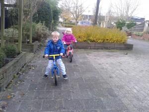 Op de (loop)fiets